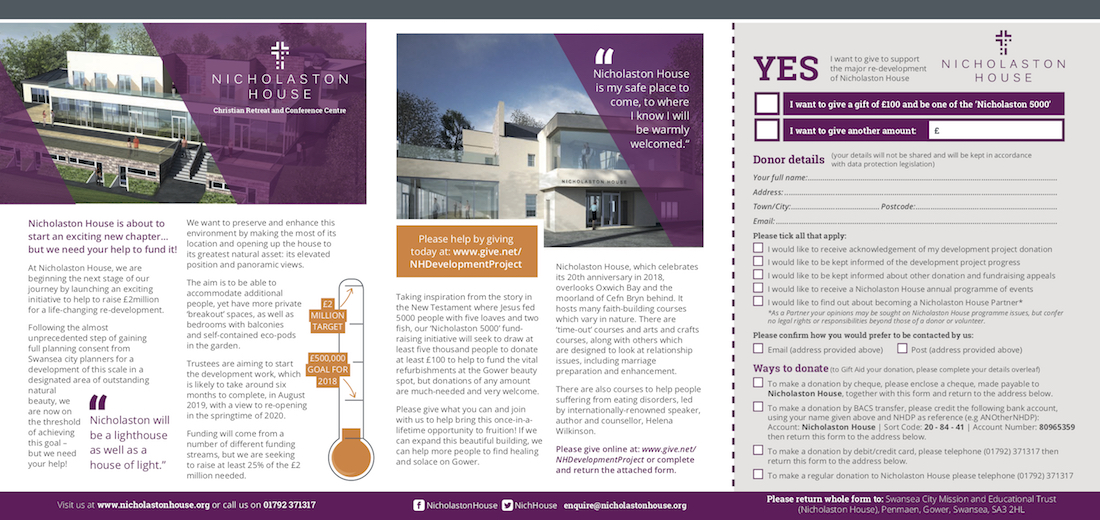 Nicholaston House Development Fundraising Newsletter