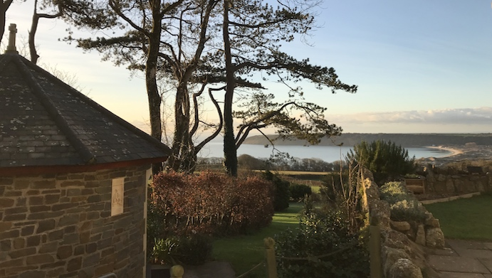 Oxwich Bay from Nicholaston House